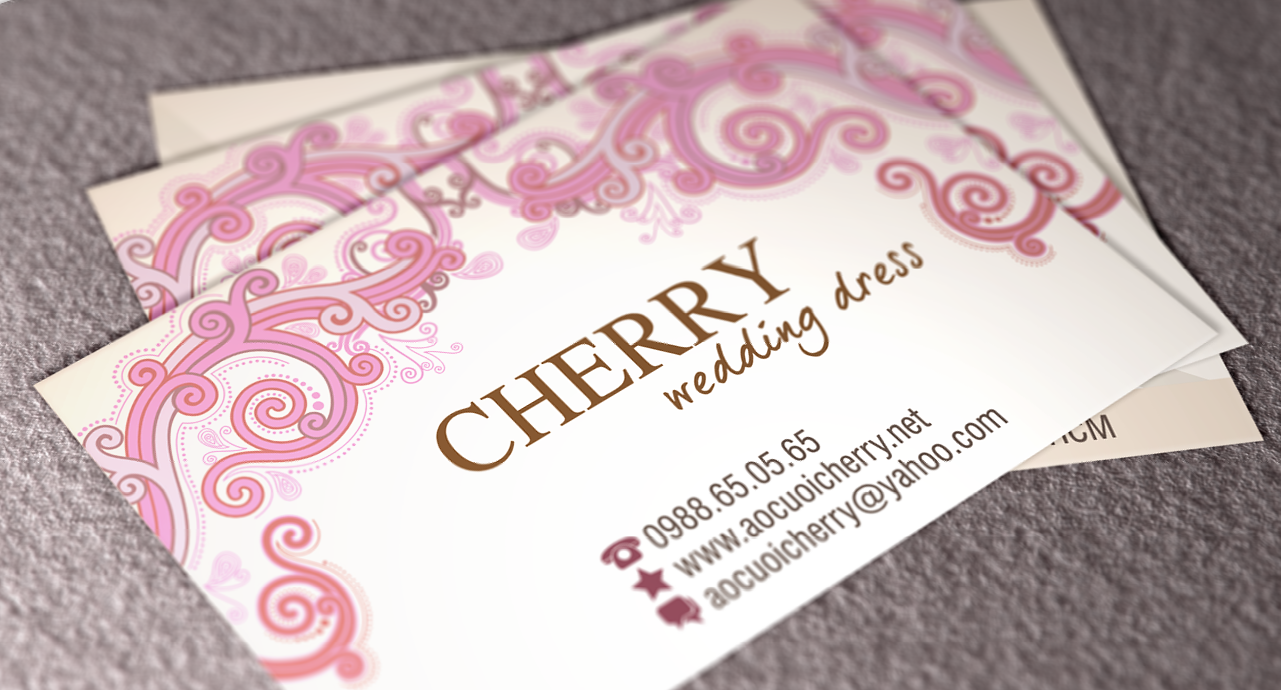 Cherry Wedding Dress Business Card