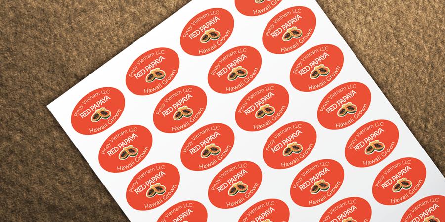 Red Papaya Sticker