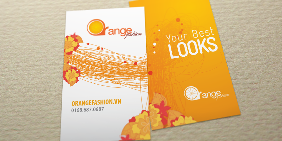 Orange Fashion Name Card