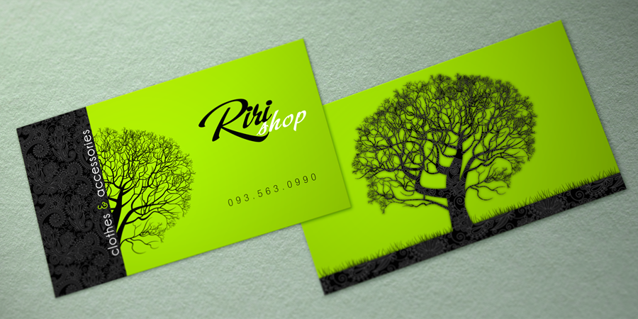 Riki Shop Name Card