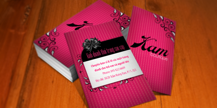 Kam Boutique name card