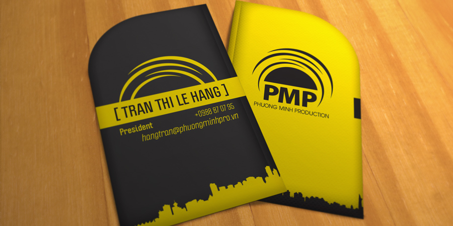 PMP special shape name card