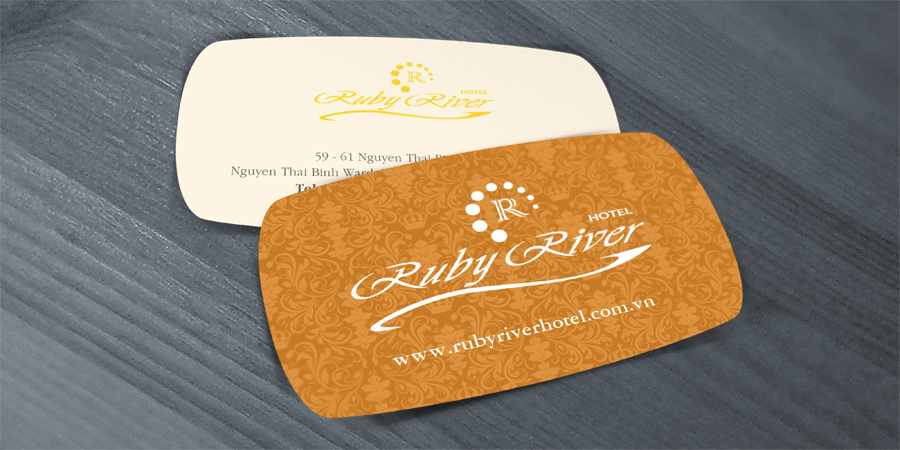 Ruby river hotel special shape name card