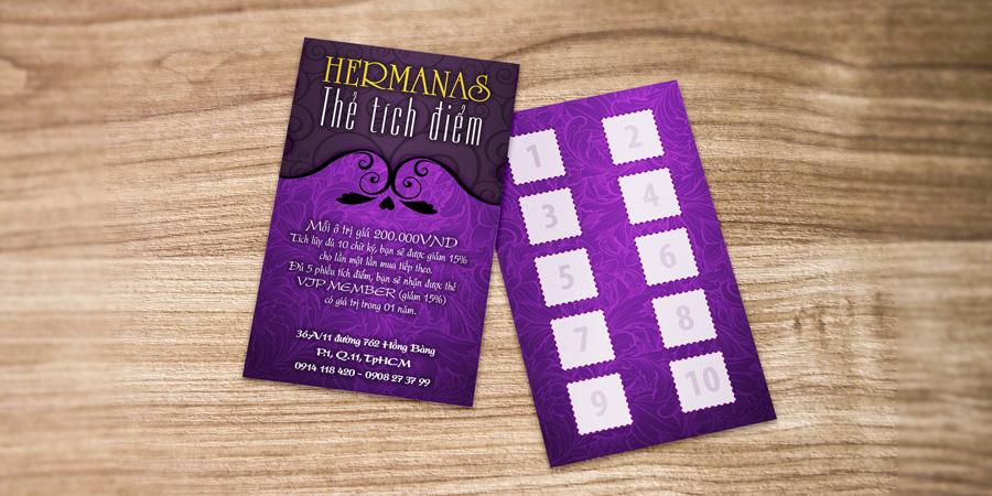 Hermanas thẻ tích điểm