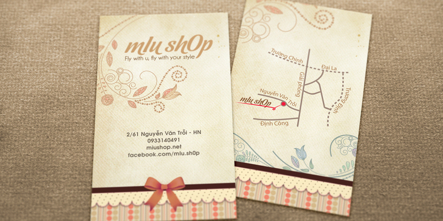 Miu Shop Business Card