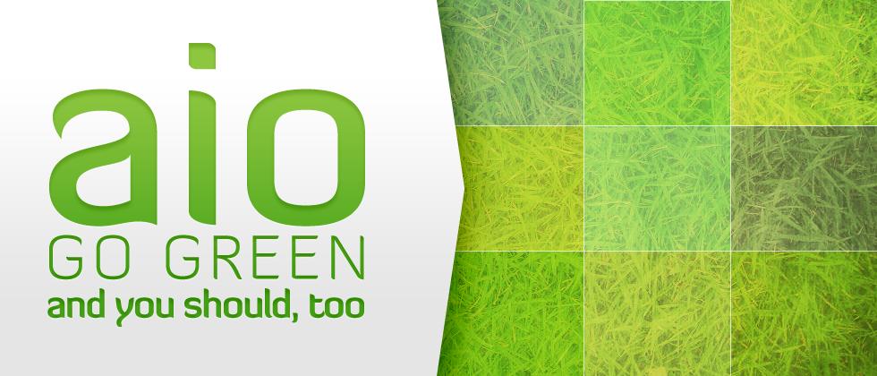 go green banner bảo vệ môi trường