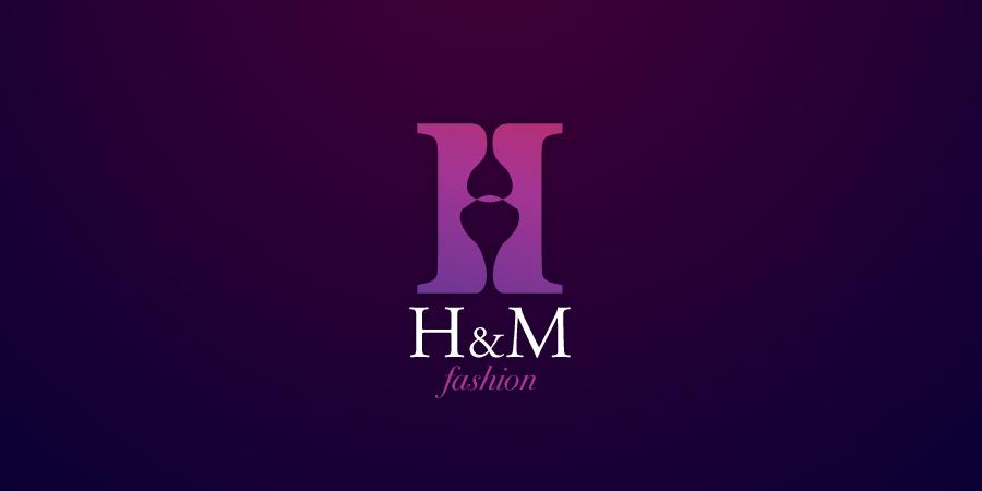 Mẫu thiết kế Logo cho shop thời trang H&M Fashion